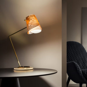 overlay copper table lamp