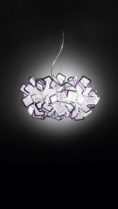 clizia purple suspension lamp