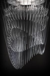 aria transparent lamp by zaha hadid detail