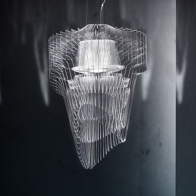 Slamp aria transparent by zaha hadid mozeypictures Choice Image