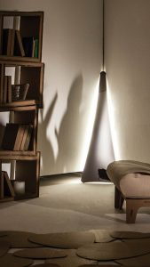punctum floor lamp setted in a house