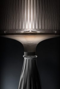liza pewter table lamp detail