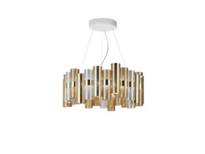 la lollo gold l suspension lamp still life image