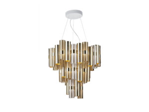 la lollo gold xl suspension lamp still life image