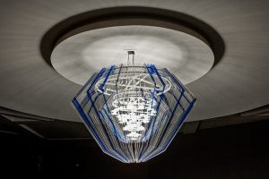 side view of the chandelier