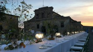 clizia table battery powered setted during a wedding dinner