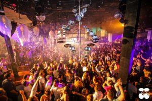 avia inside the pacha club during a party