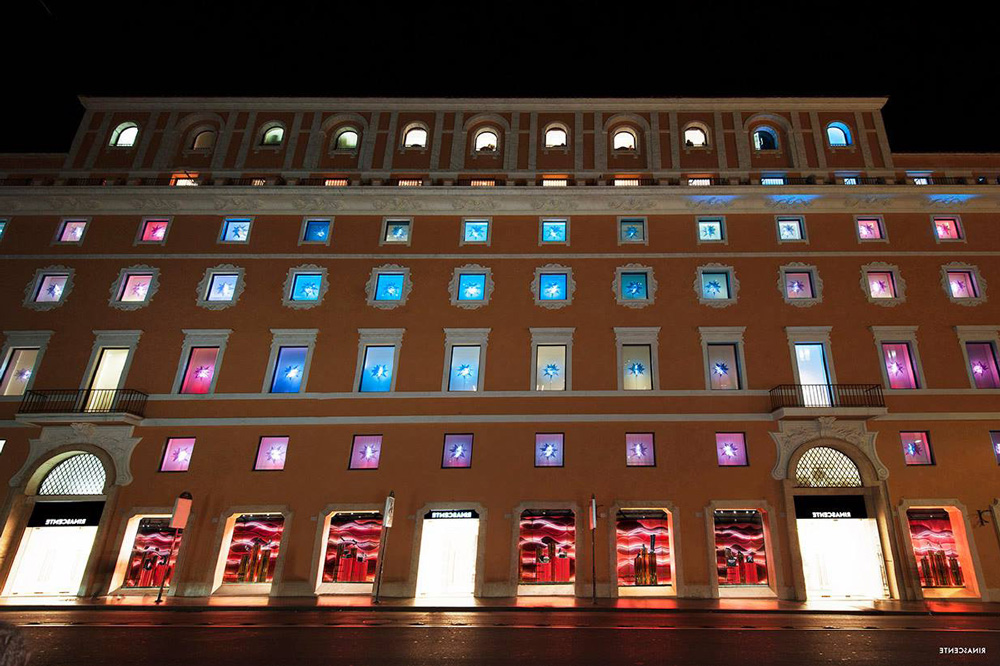 rinascente roma with waldemeyer's christmas installation