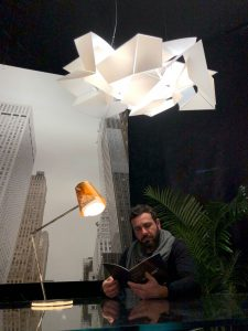 architect next to overlay and below a corodba lamp