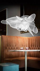 la belle étoile suspension lamp in a vintage diner