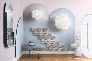 clizia pixel wall lamp in a contemporary house