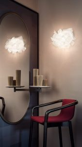 clizia pixel applique lamp in an dress room