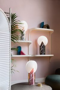 moon collection lamp on envelops