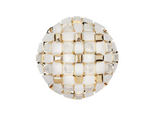 mida ceiling/wall large white/gold still life image